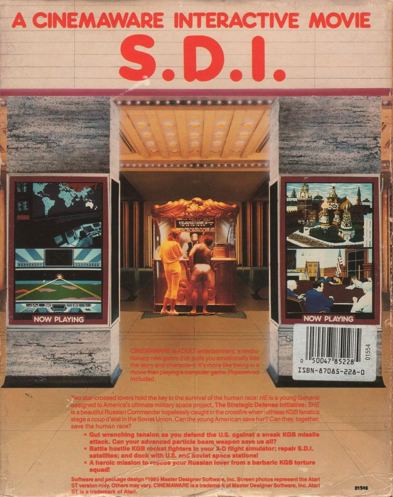 S.D.I. Atari ST Back Cover