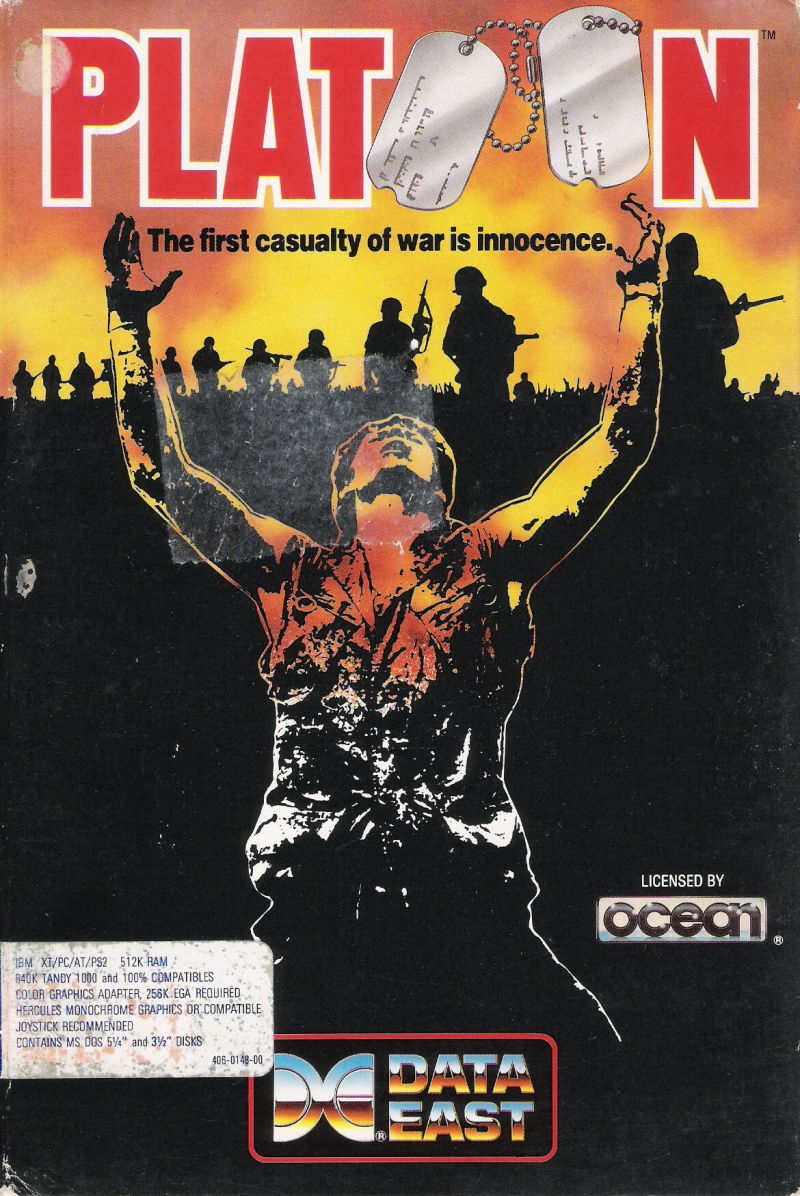 Platoon DOS Front Cover