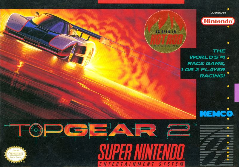 Top Gear 2 SNES Front Cover
