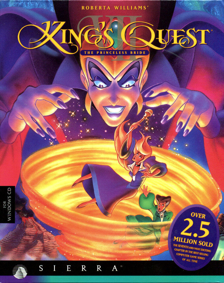 Roberta Williams' King's Quest VII: The Princeless Bride DOS Front Cover