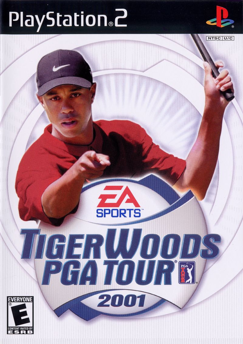 Tiger Woods PGA Tour 2001 PlayStation 2 Front Cover