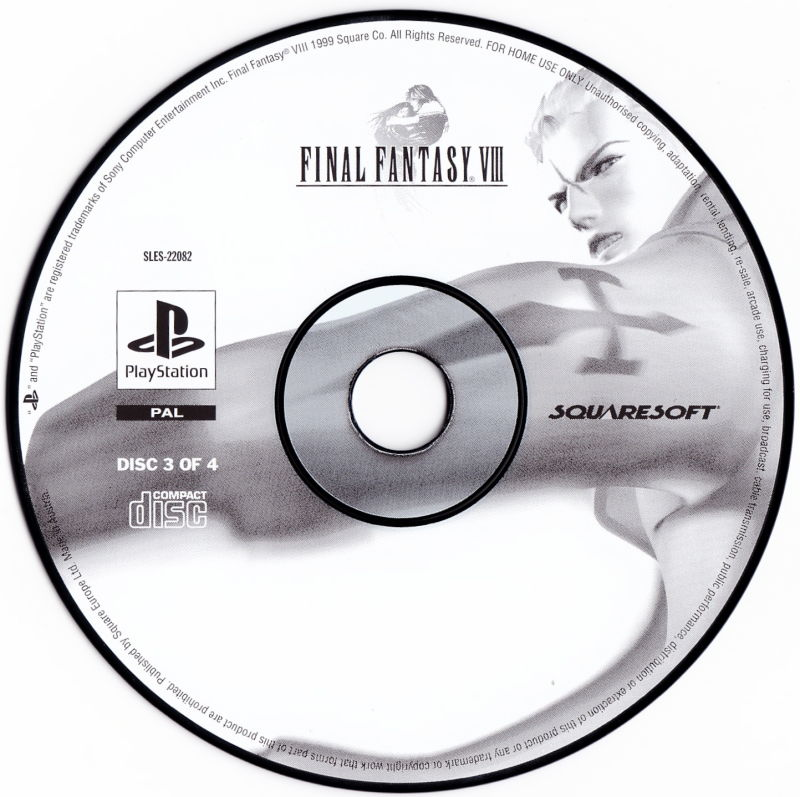 Final Fantasy VIII PlayStation Media Disc 3