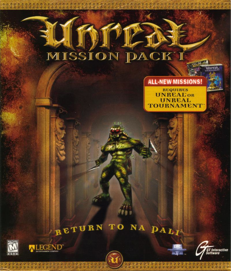 Unreal Mission Pack 1: Return to Na Pali Windows Front Cover