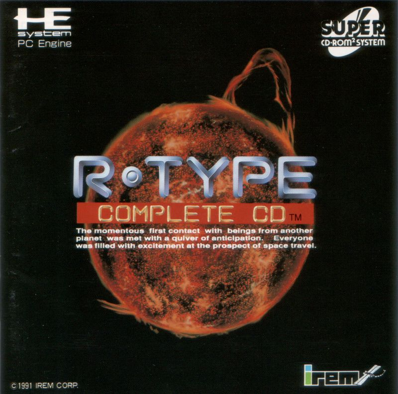R-Type TurboGrafx CD Front Cover
