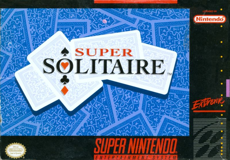 Super Solitaire SNES Front Cover