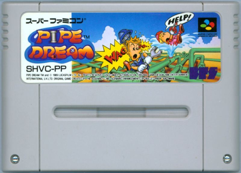Pipe Dream SNES Media