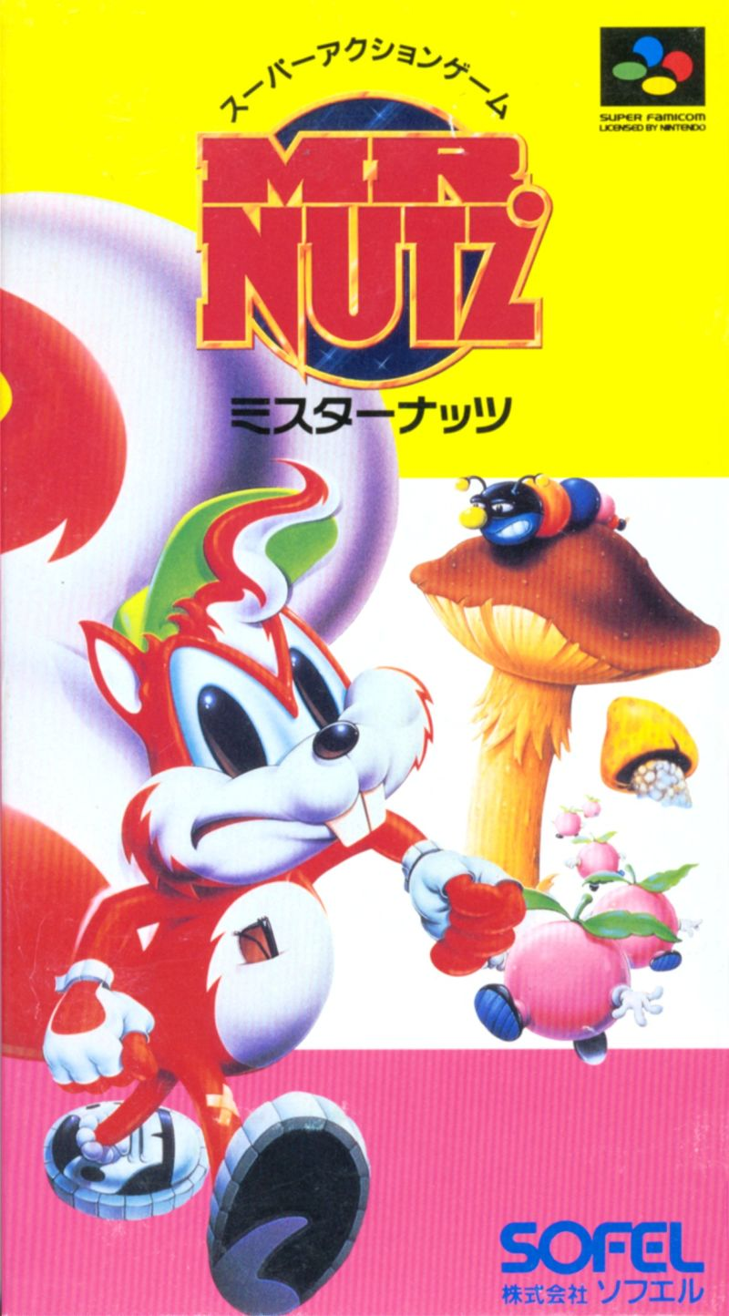 Mr. Nutz SNES Front Cover