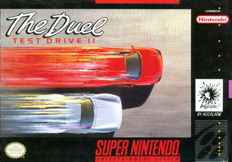 The Duel: Test Drive II SNES Front Cover