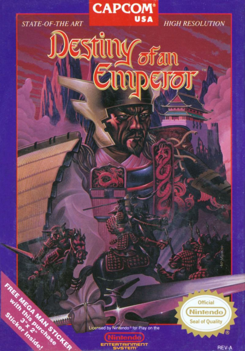Destiny of an Emperor NES Front Cover