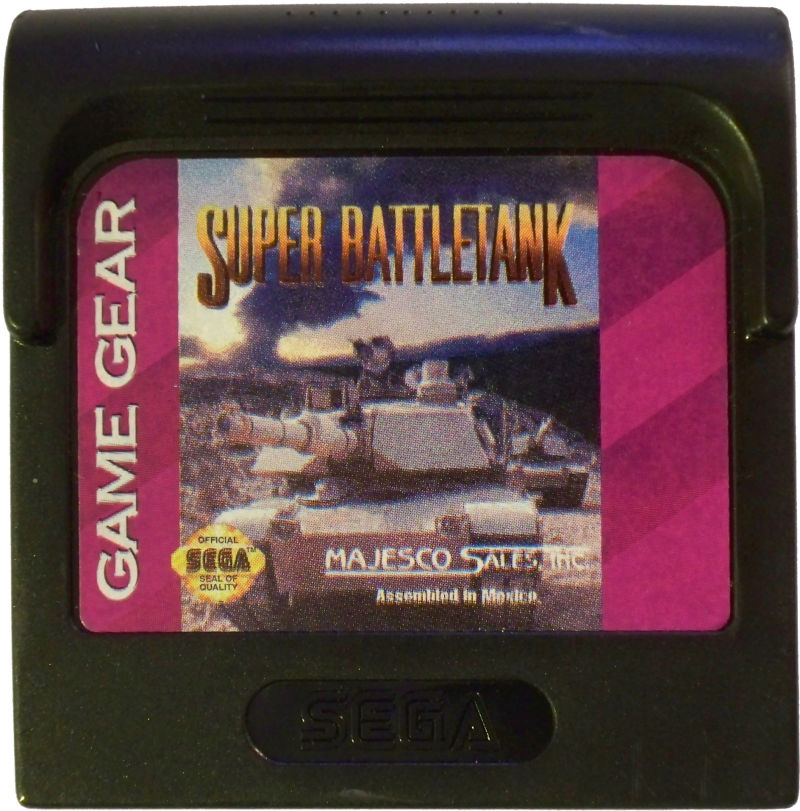 Super Battletank Game Gear Media