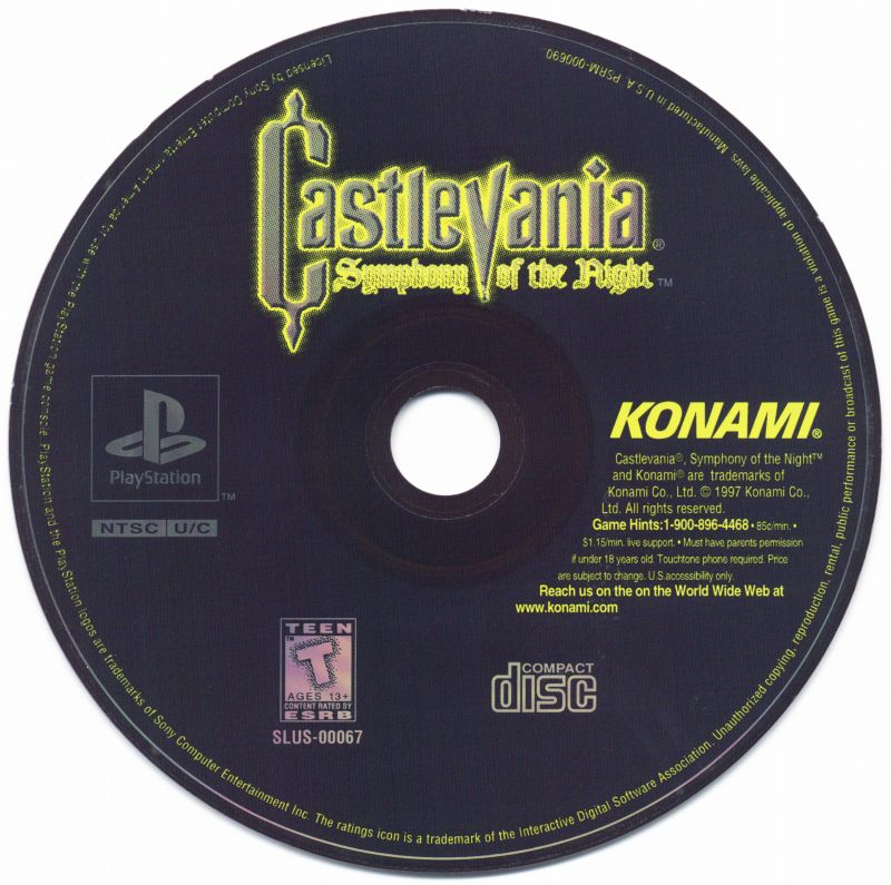 Castlevania: Symphony of the Night PlayStation Media