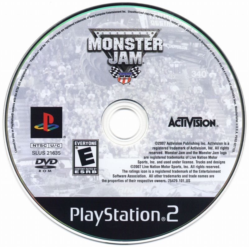 Monster Jam (2007) PlayStation 2 box cover art - MobyGames
