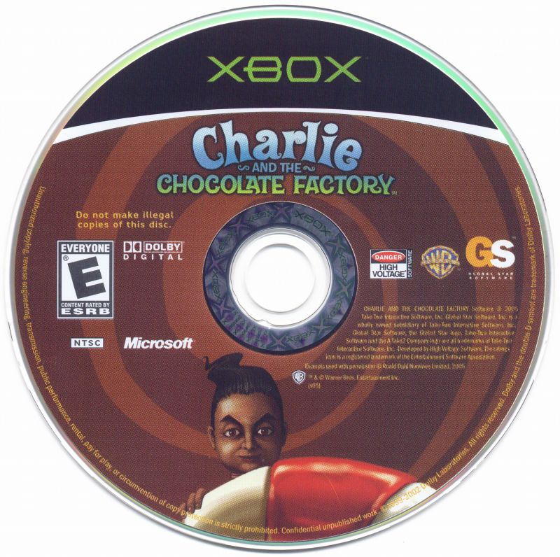 Charlie and the Chocolate Factory Xbox Media