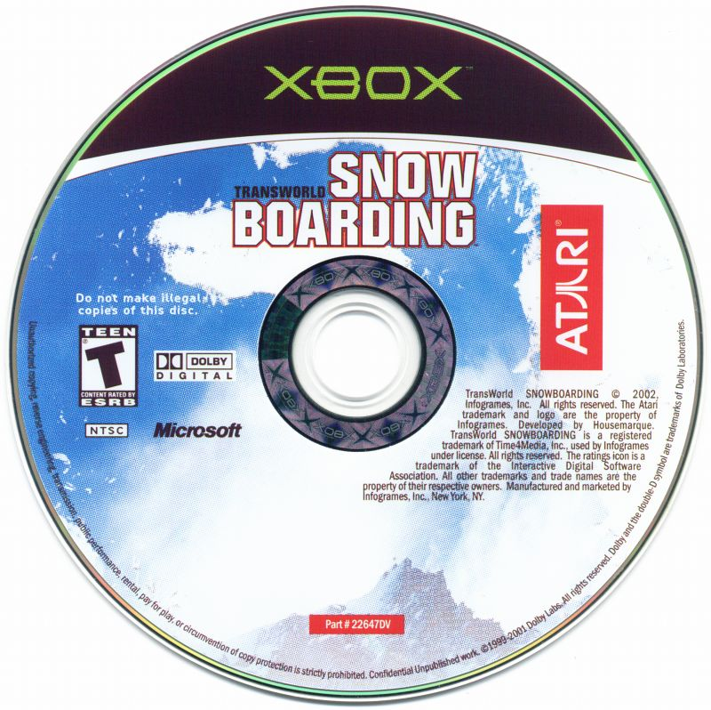 TransWorld Snowboarding Xbox Media