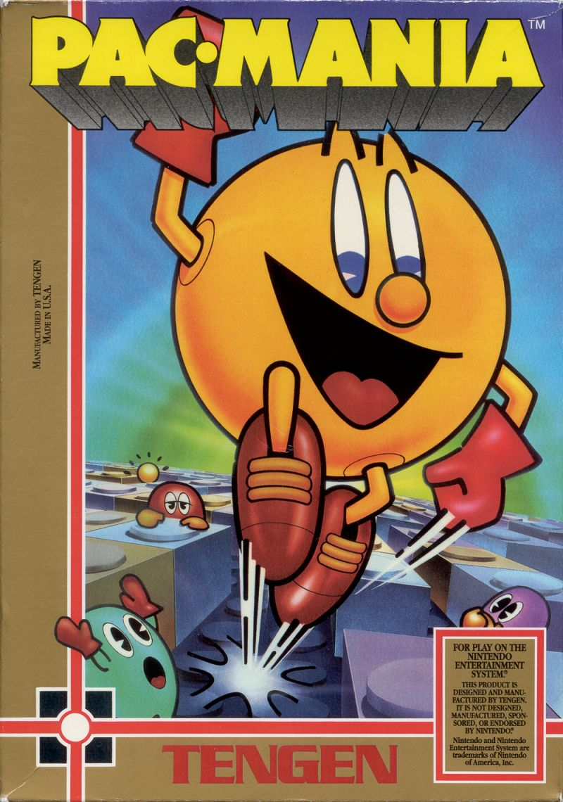 Pac-Mania NES Front Cover