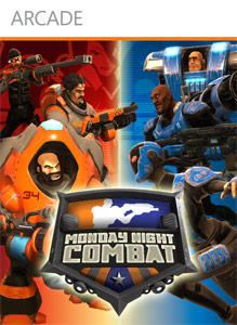 Monday Night Combat Xbox 360 Front Cover first version
