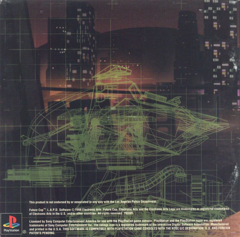 Future Cop: L.A.P.D. PlayStation Inside Cover Left Inlay