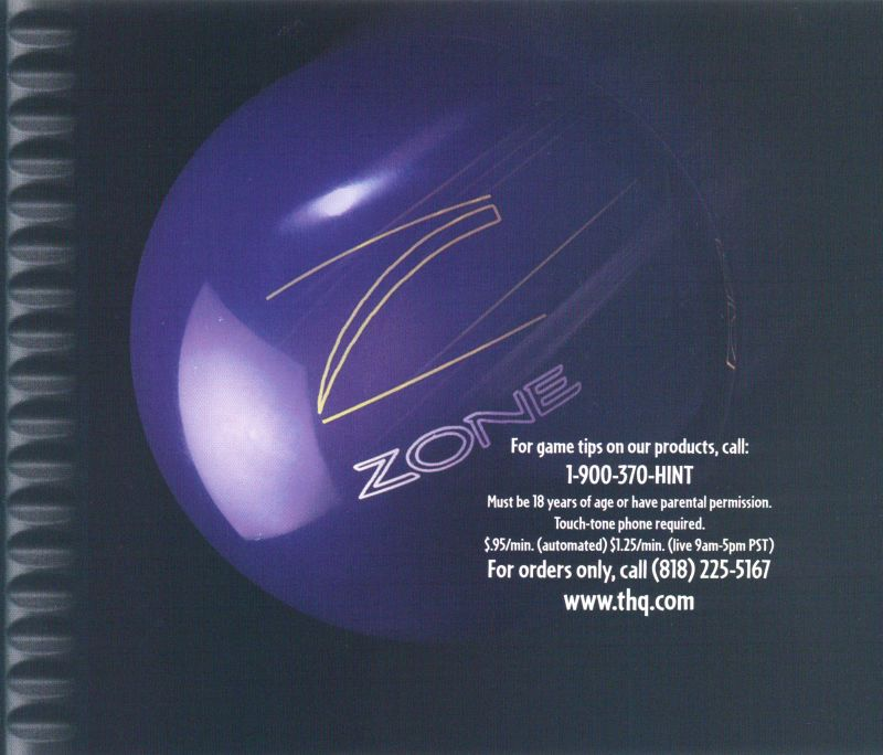 Brunswick Circuit Pro Bowling PlayStation Inside Cover
