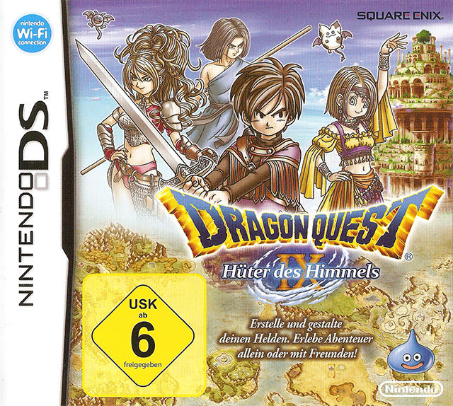 Dragon Quest IX: Sentinels of the Starry Skies Nintendo DS Front Cover