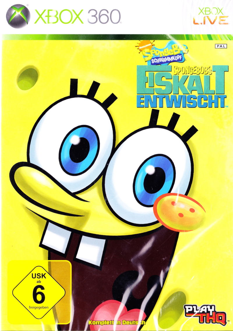SpongeBob's Truth or Square Xbox 360 Front Cover