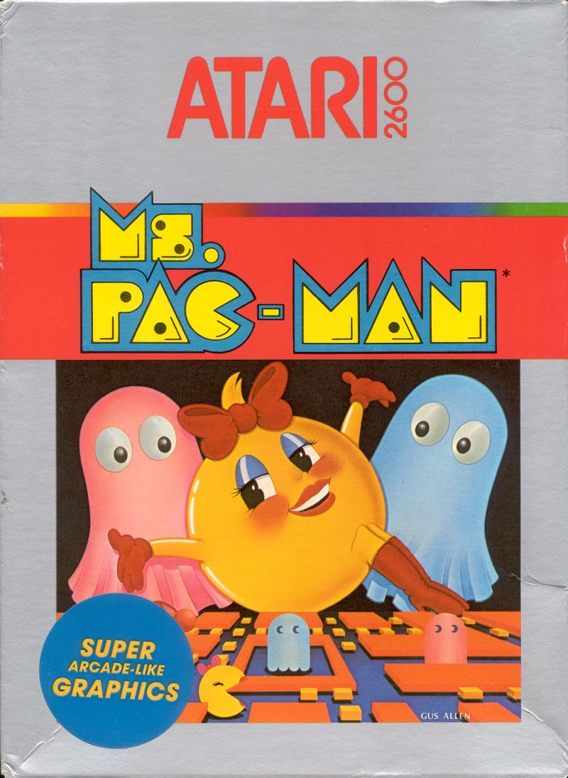 Ms. Pac-Man Atari 2600 Front Cover