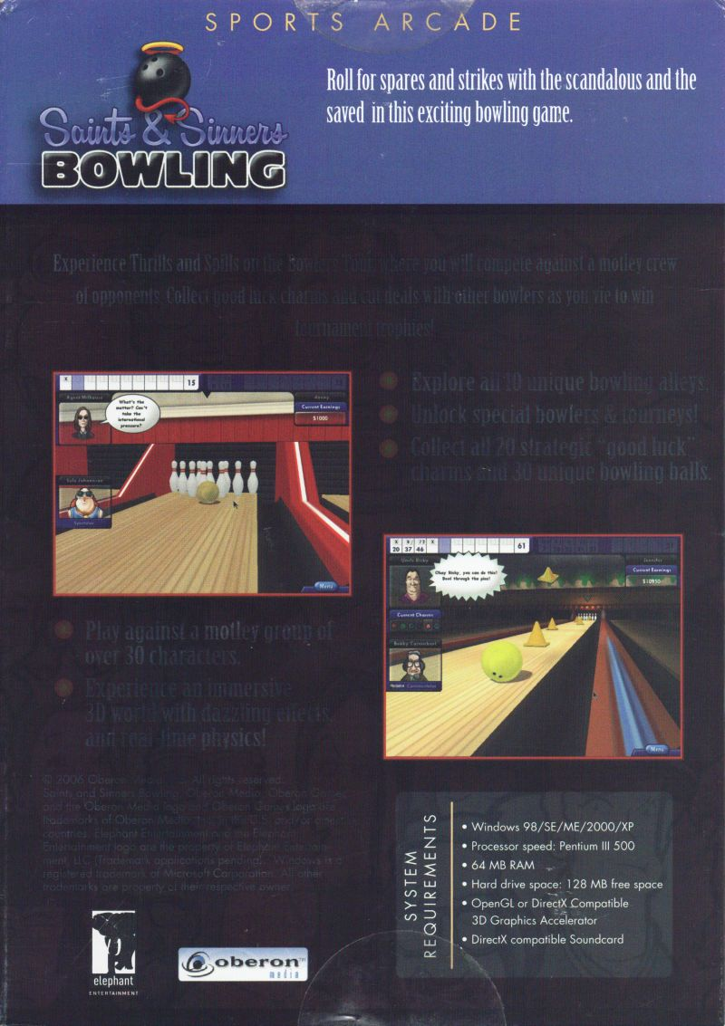 Saints & Sinners Bowling Windows Back Cover