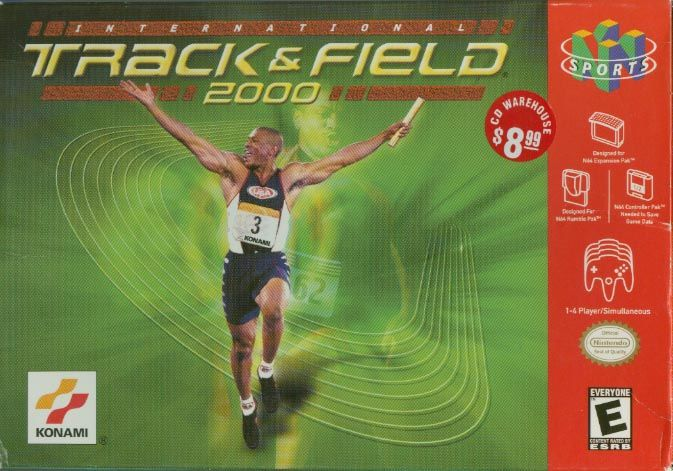 International Track & Field 2000 Nintendo 64 Front Cover