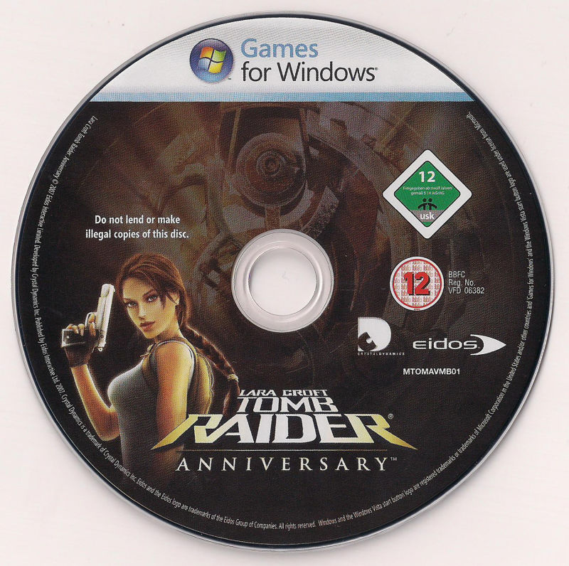 Lara Croft: Tomb Raider - Anniversary Windows Media