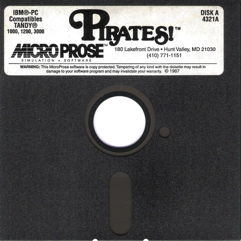 Sid Meier's Pirates! PC Booter Media Disk A