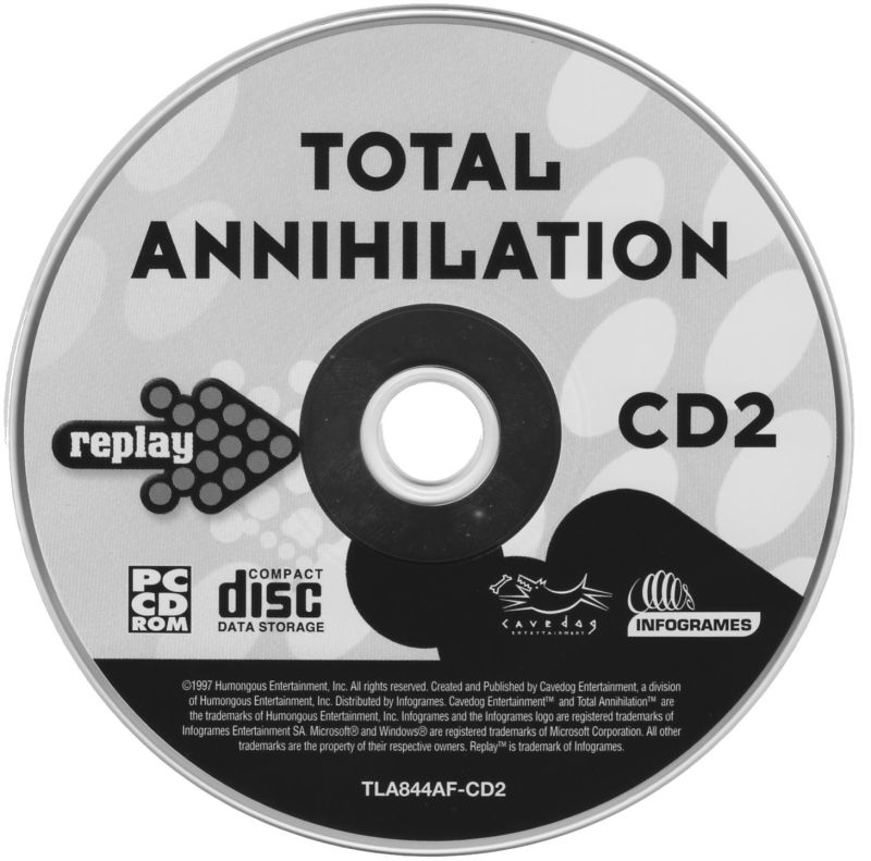 Total Annihilation Windows Media Disc 2/2