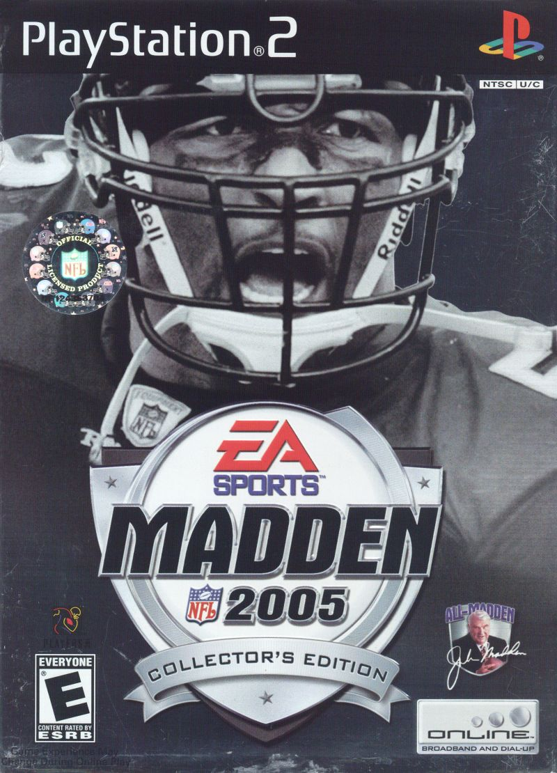 Madden NFL 2005 (Collector's Edition) PlayStation 2 Front Cover