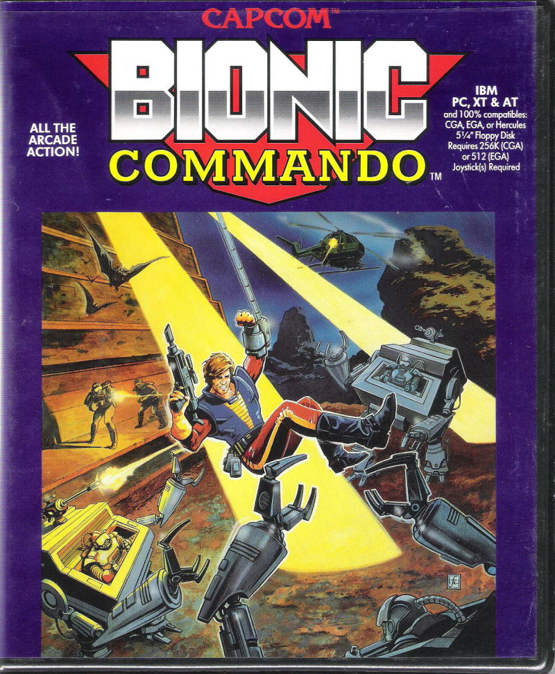 Bionic Commando DOS Front Cover