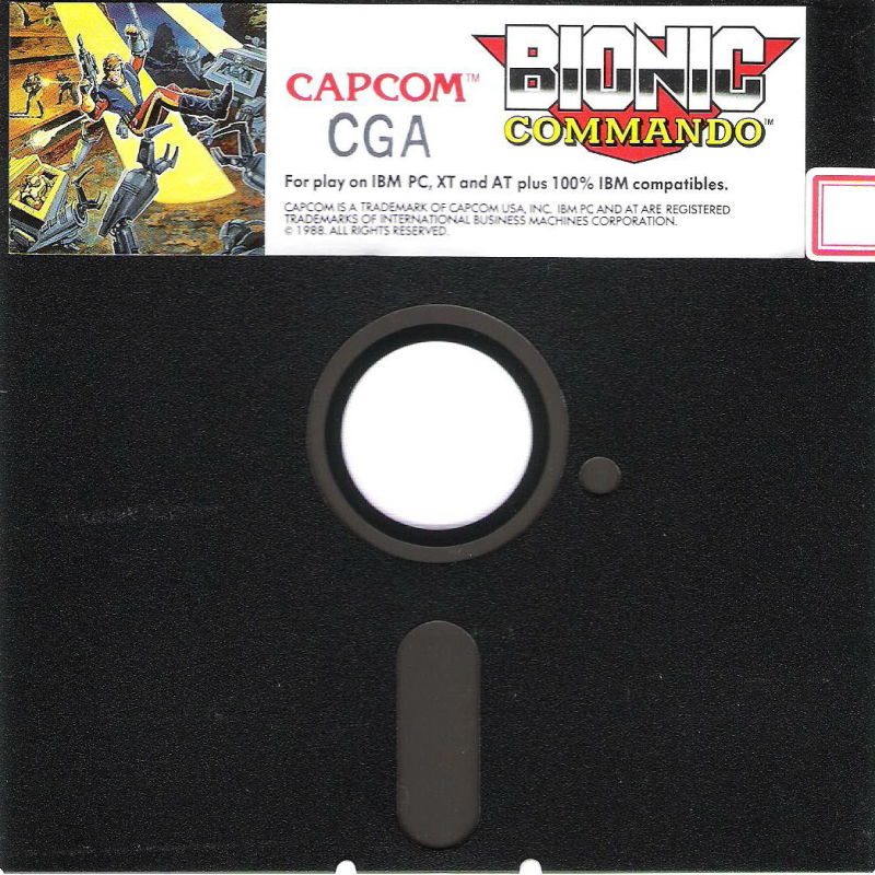 Bionic Commando DOS Media CGA Disk