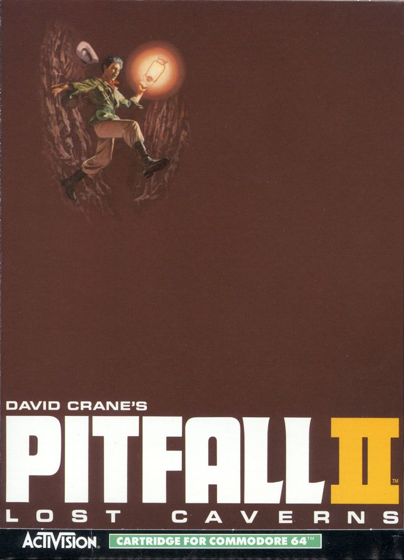 Pitfall II: Lost Caverns Commodore 64 Front Cover