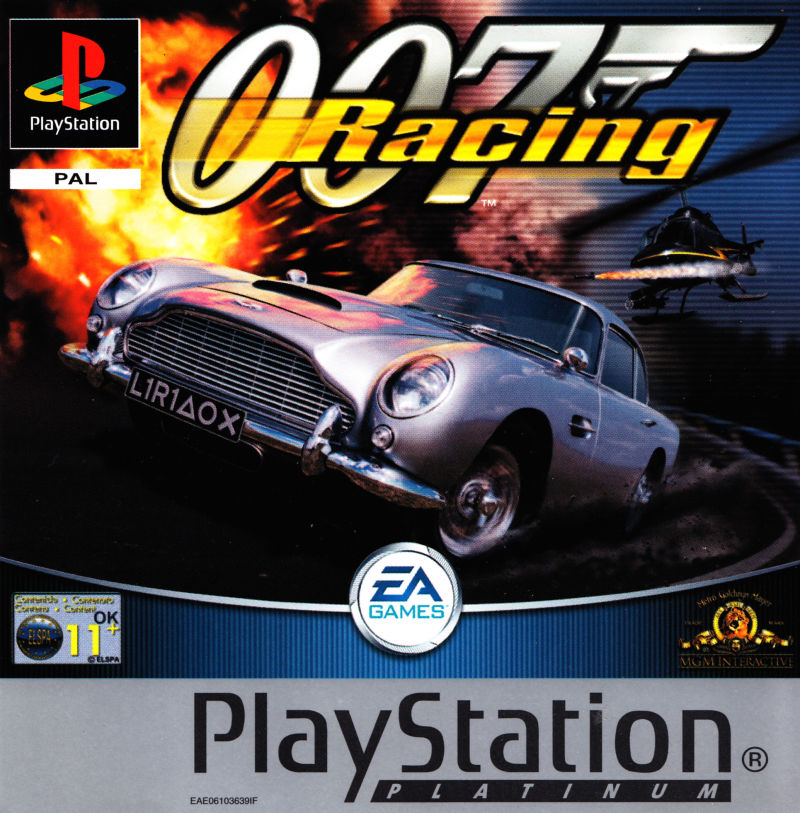 007: Racing PlayStation Front Cover Also a manual