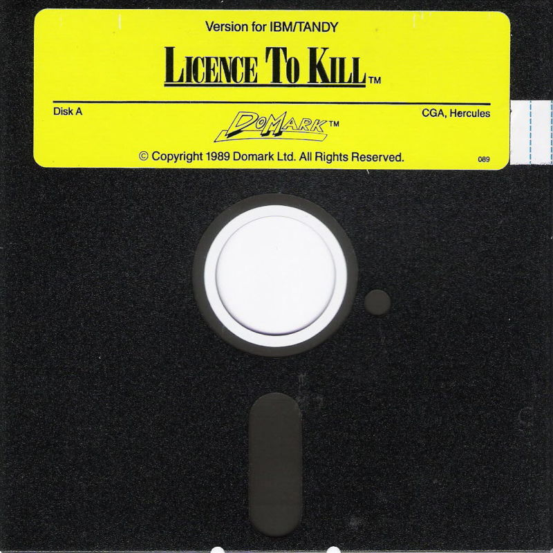 007: Licence to Kill DOS Media Disk A