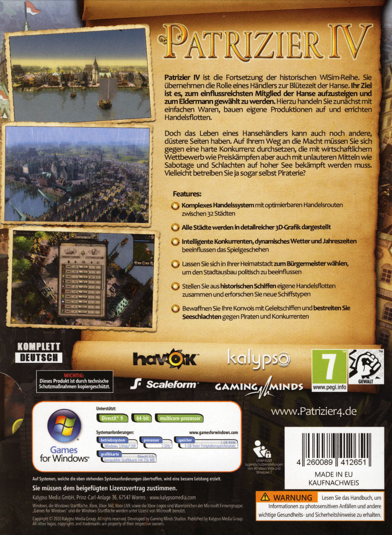 Patrizier IV (Limited Edition) Windows Other Slipcase - Back