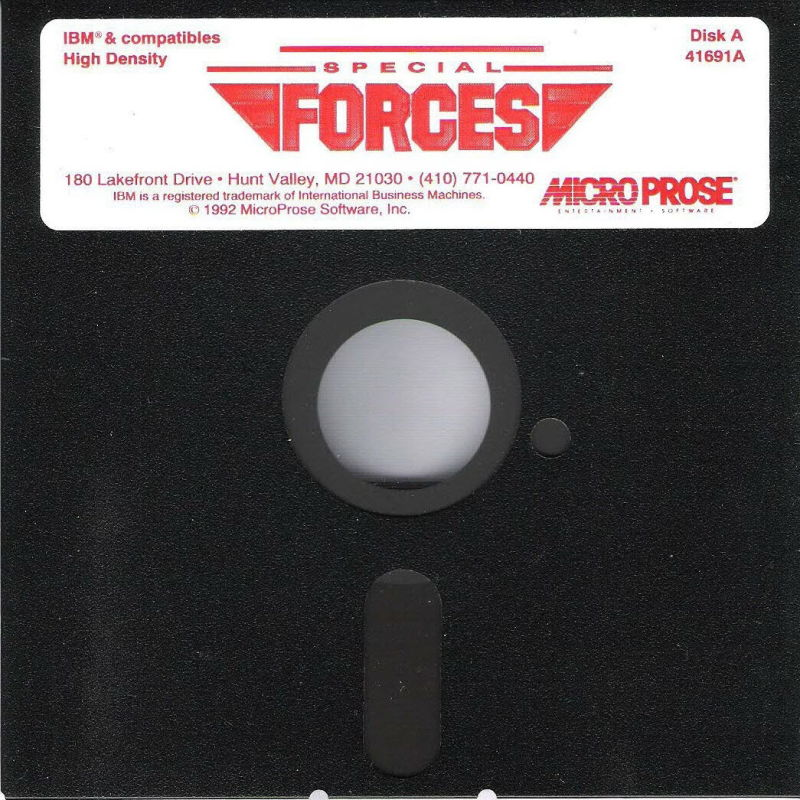 "Special Forces DOS Media 5.25"" Disk 1/2"