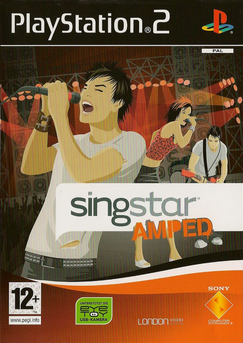 SingStar: Amped PlayStation 2 Front Cover