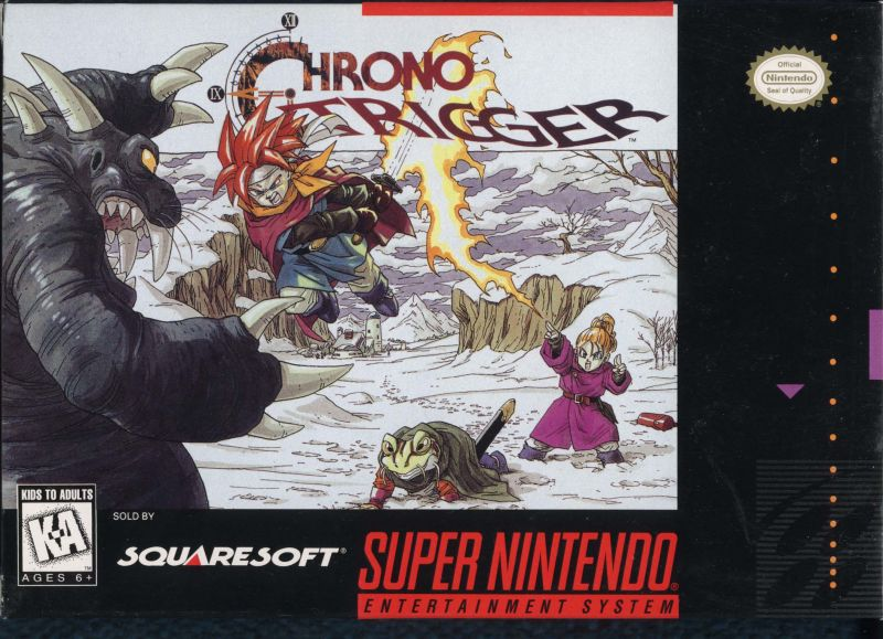 Chrono Trigger SNES Front Cover