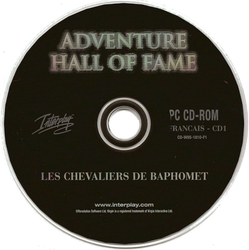 Adventure Hall of Fame Windows Media Broken Sword CD 1 French