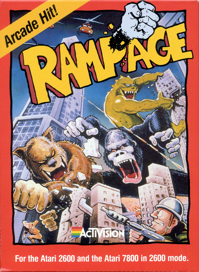 Rampage Atari 2600 Front Cover