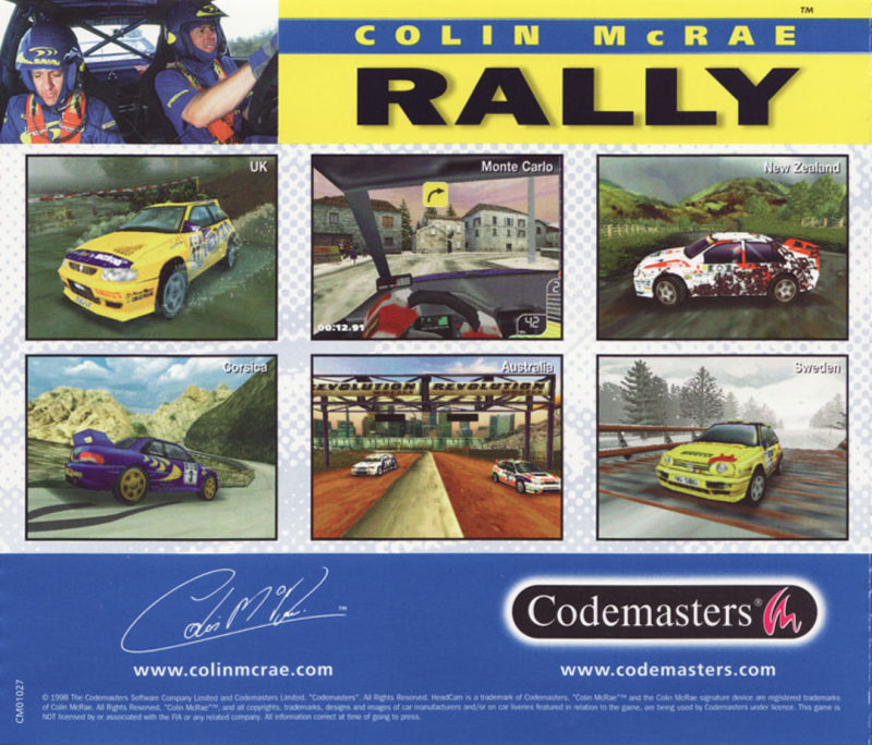 Colin McRae Rally Windows Other Jewel Case - Back
