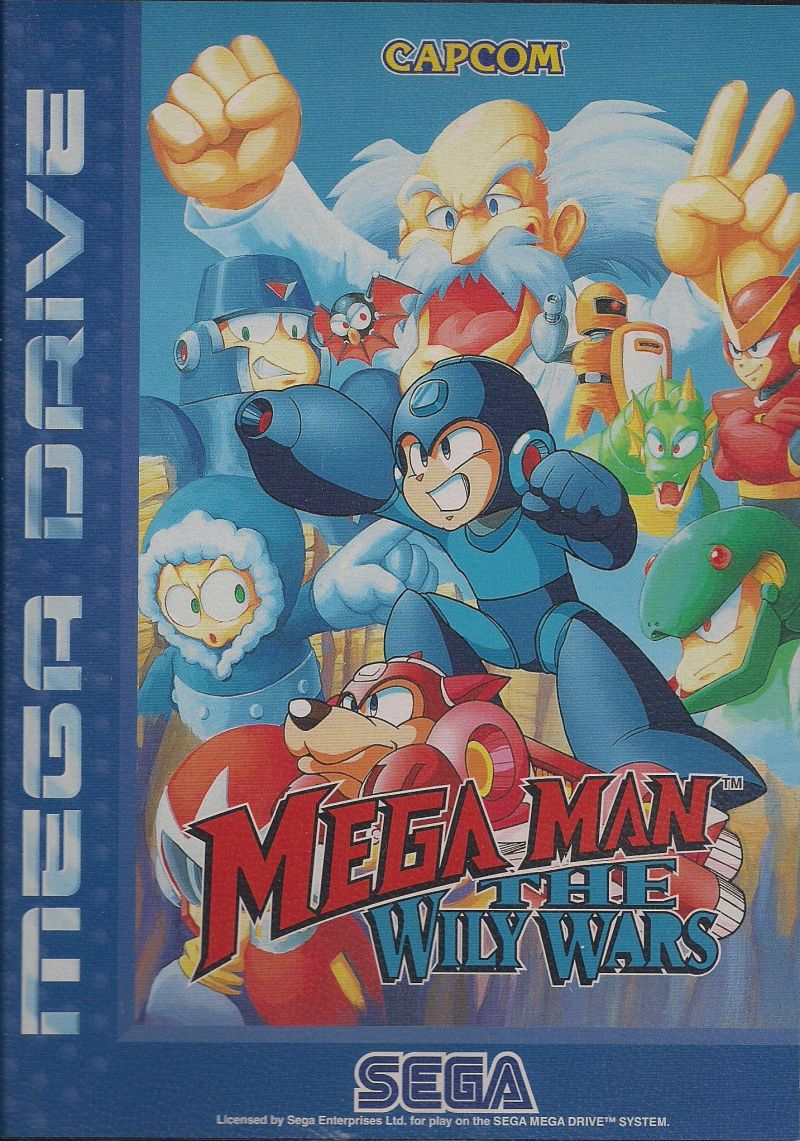 Mega Man: The Wily Wars Genesis Front Cover