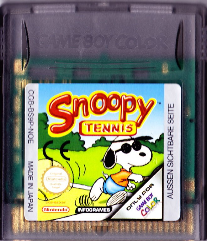 Snoopy Tennis Game Boy Color Media