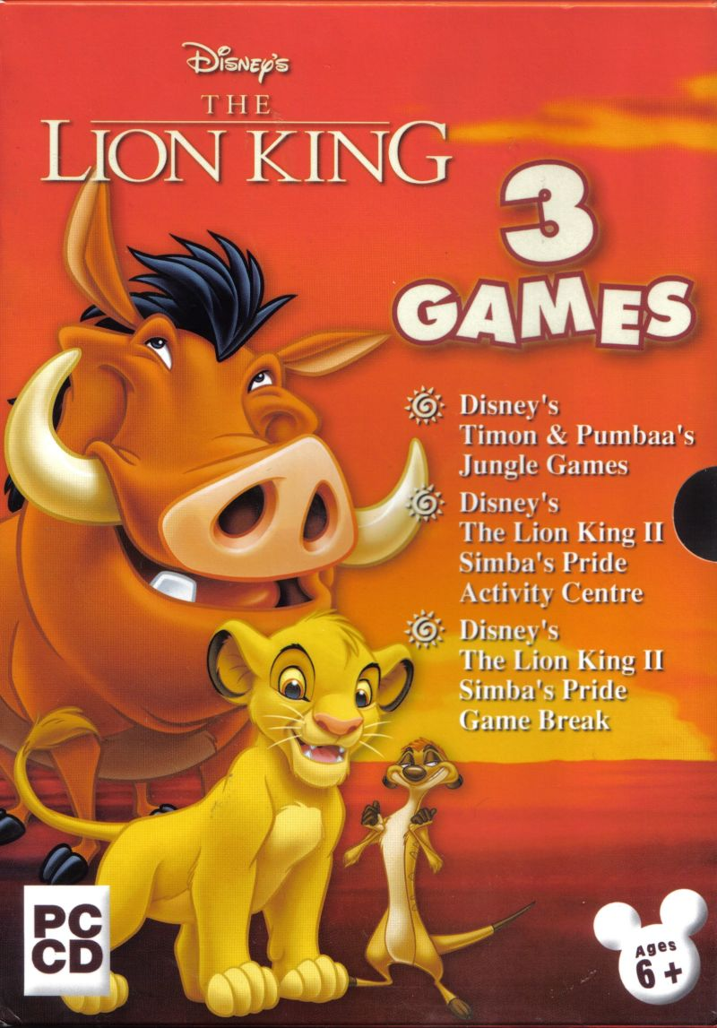 disney u0026 39 s the lion king  3 games  2002  windows box cover