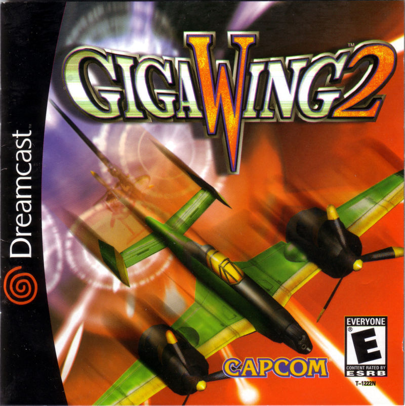 Giga Wing 2 Dreamcast Front Cover