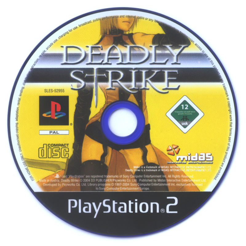 Deadly Strike PlayStation 2 Media