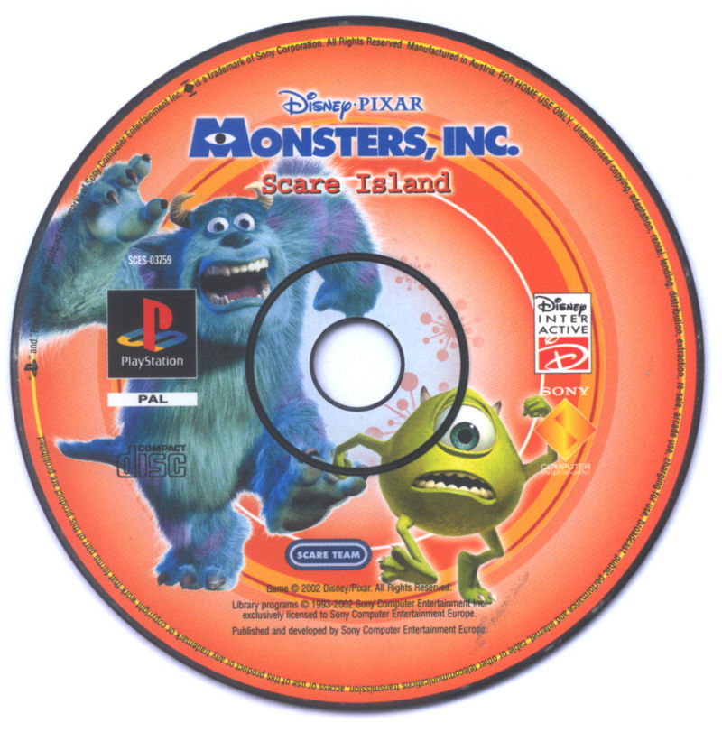 Monsters Inc Scare Island Playstation  Pal