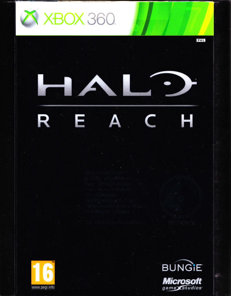 Halo: Reach (Limited Edition) Xbox 360 Front Cover